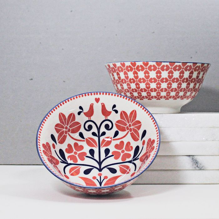 Bowl-em-porcelana-Bird-flower---15.8-cm