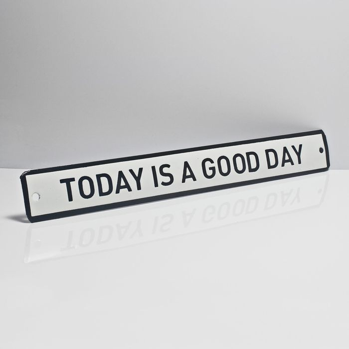 Placa-esmaltada-TODAY-IS-A-GOOD-DAY---35-x-4.5-cm